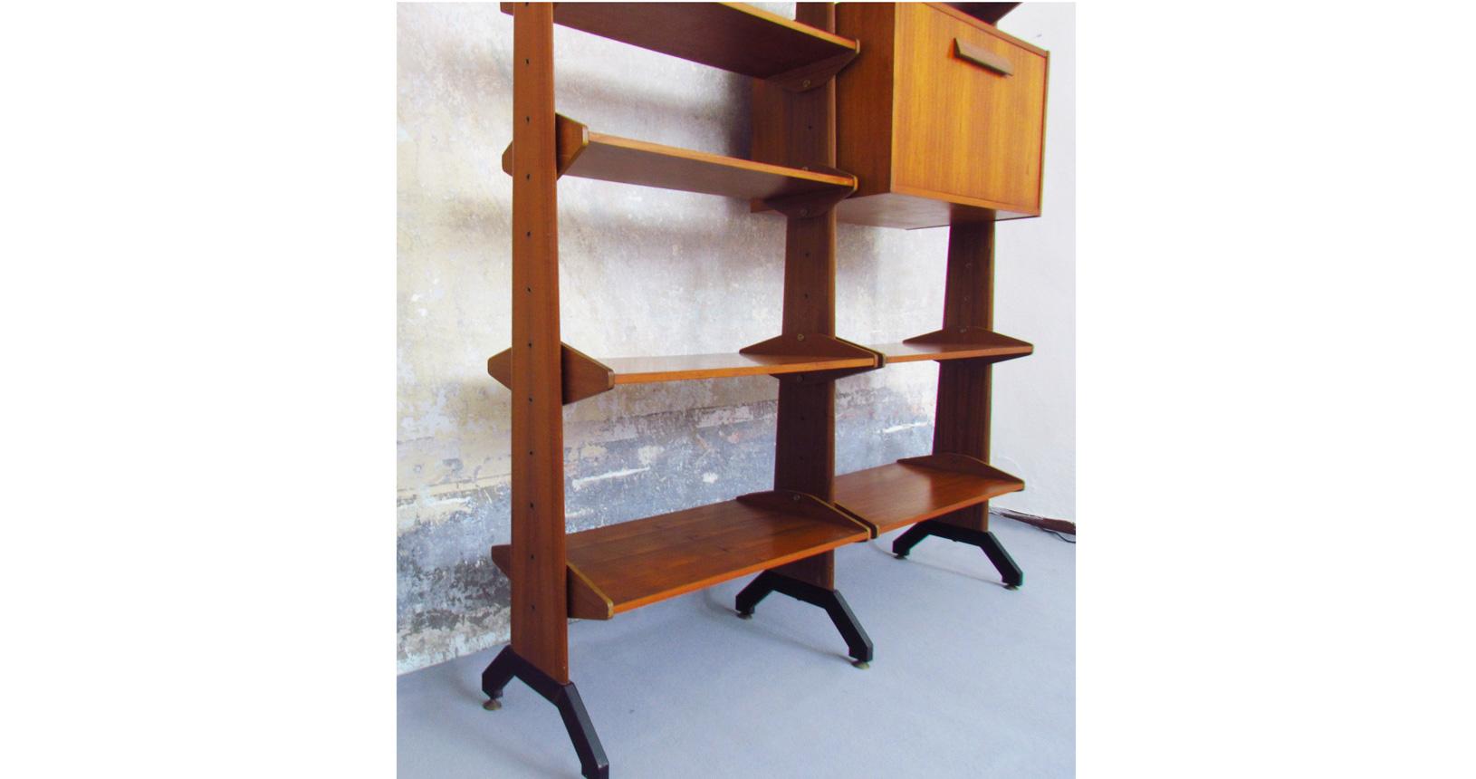 Design Scandinavo Anni 50 modular library '50