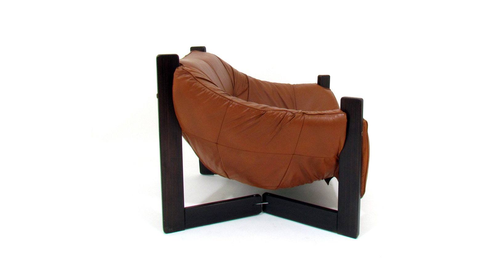 Percival Lafer Armchairs Brasilian Leather Rosewood