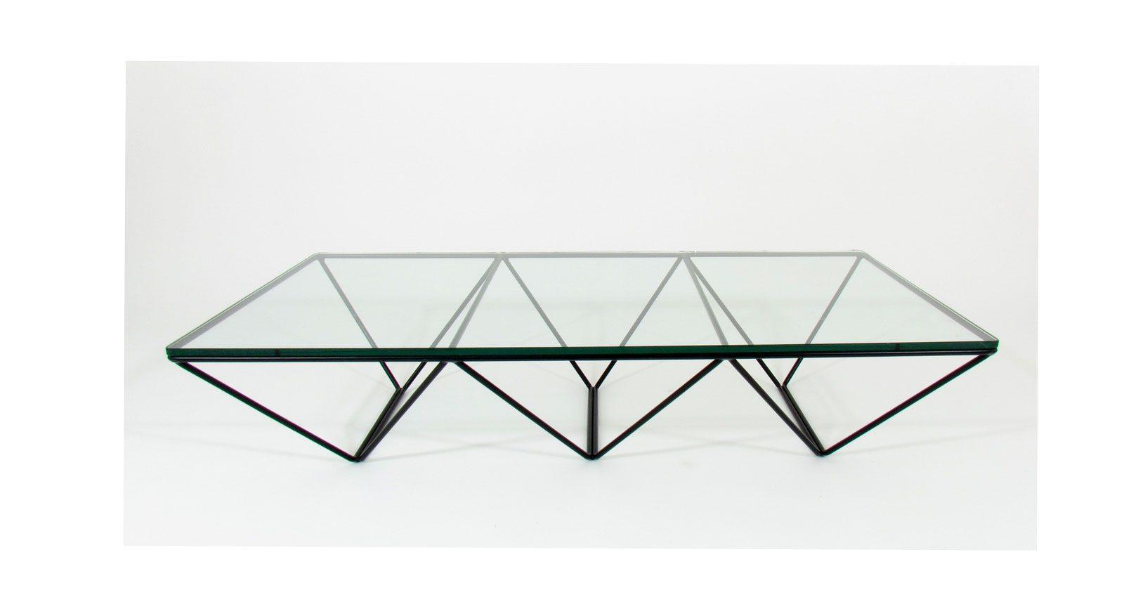 alanda paolo piva coffee table tavolo metal crystal cristallo metallo telaio