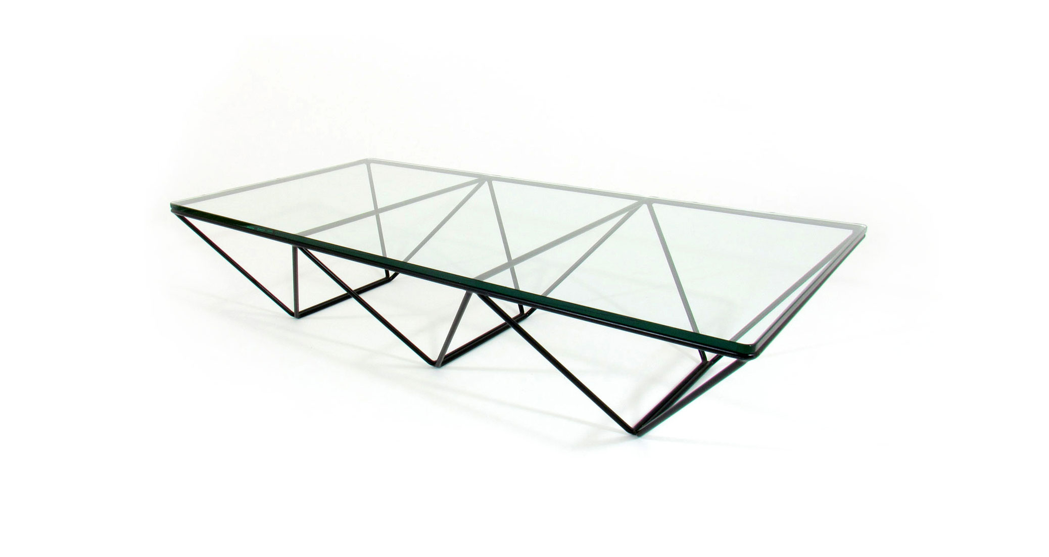 alanda piva table metal glass crystal tavolo cristallo metallo iconic design vintage furniture