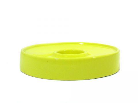 antonello mosca brambilla giallo yellow posacenere ashtray ceramica design vintage iconic design furniture ceramic sculpture