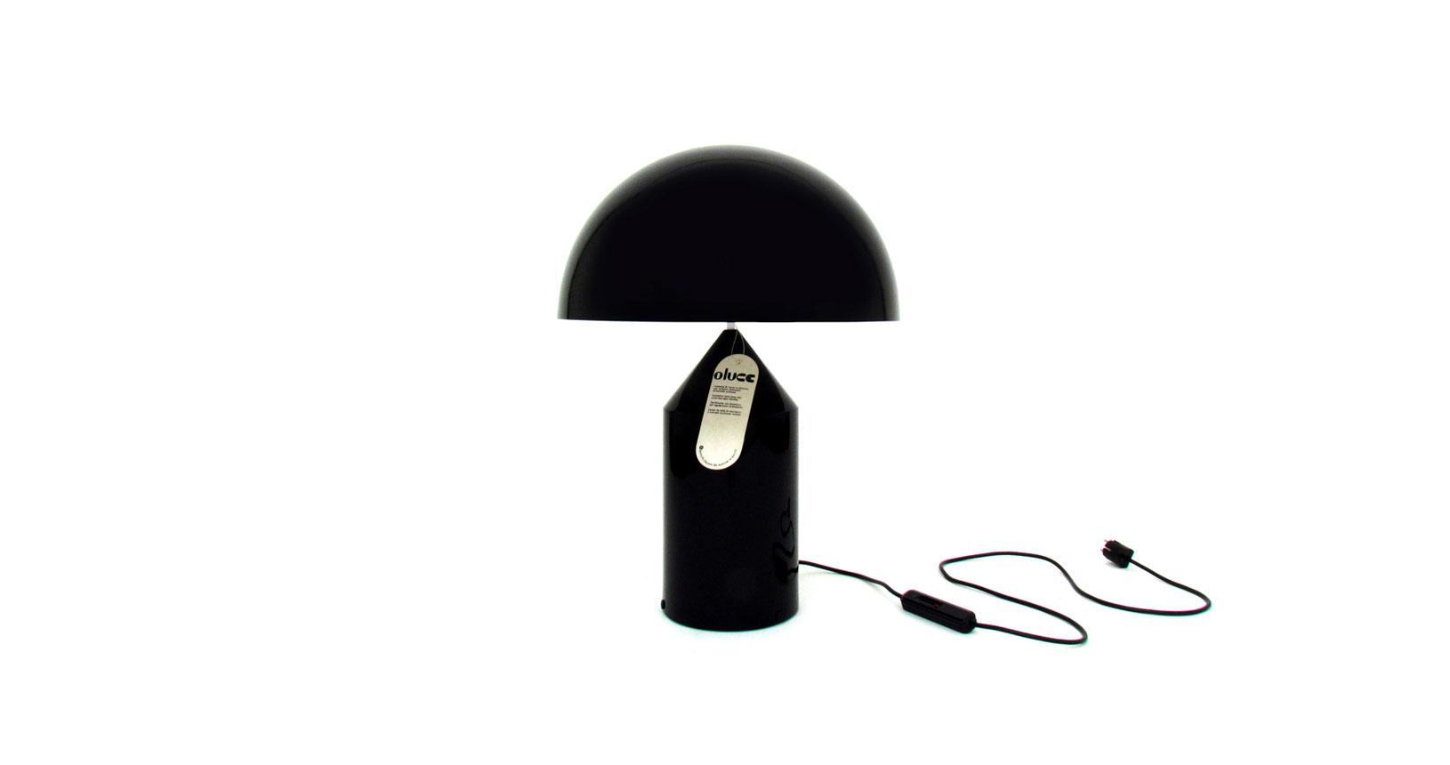 atollo 235 lamp vico magistretti black metal nero lampada oluce