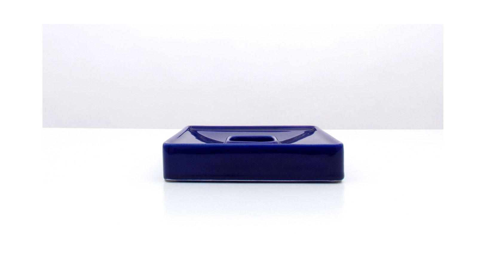 brambilla blu posacenere ceramica design vintage