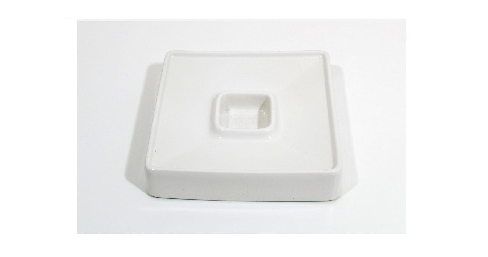 brambilla bianco white posacenere ashtray ceramica design vintage iconic design furniture