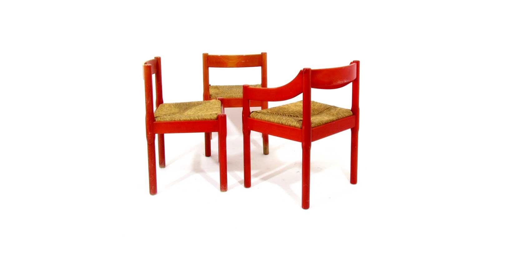 carimate vico magistretti cassina wooden chair straw seat vintage iconic design furniture