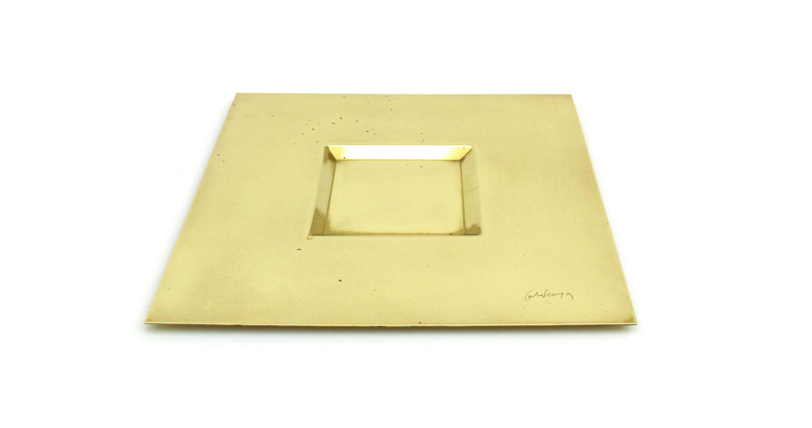 brass plate piatto ottone carlo scarpa design