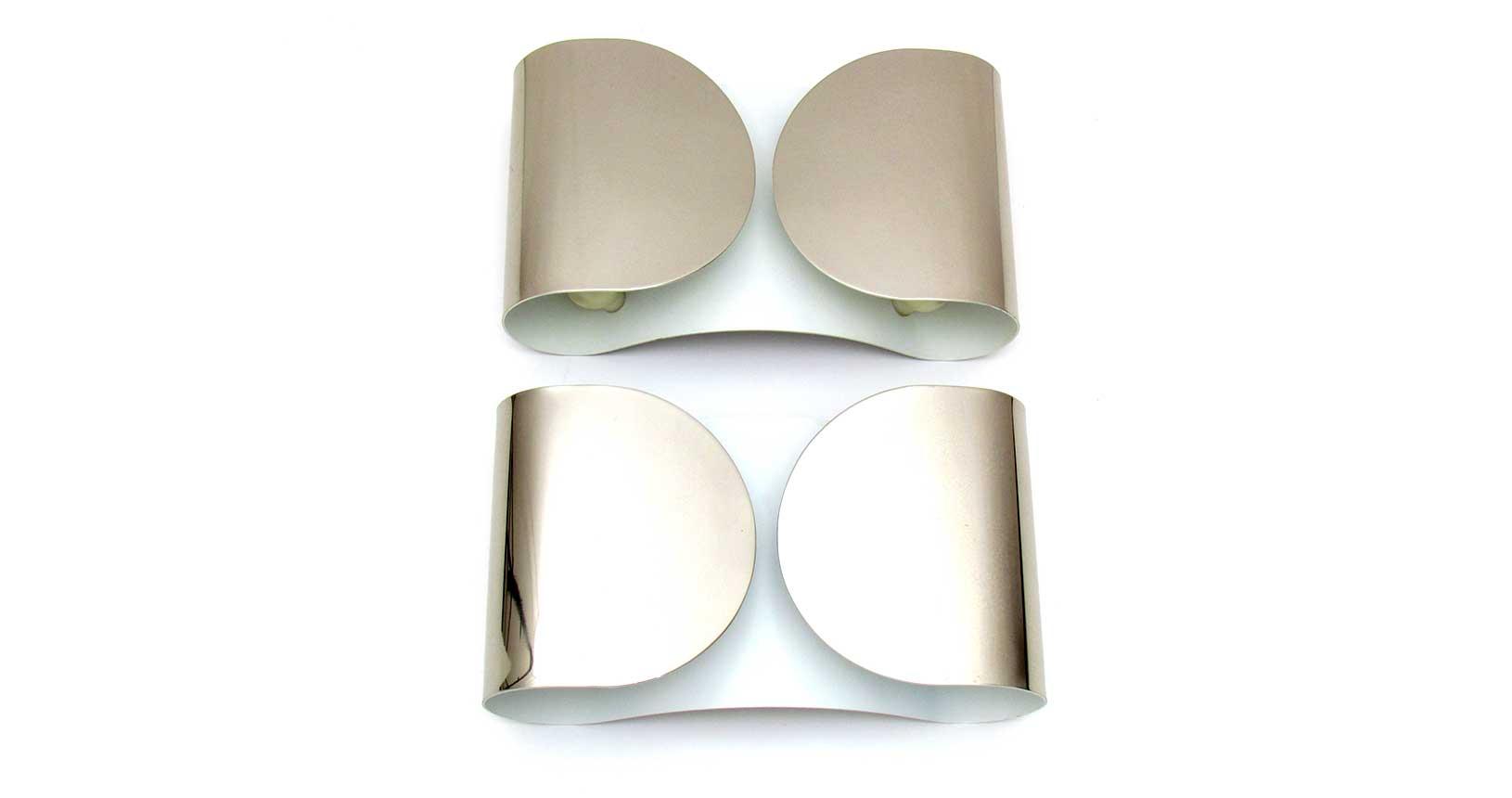 Foglio applique tobia scarpa floss chrome brass wall lamp vintage design iconic design
