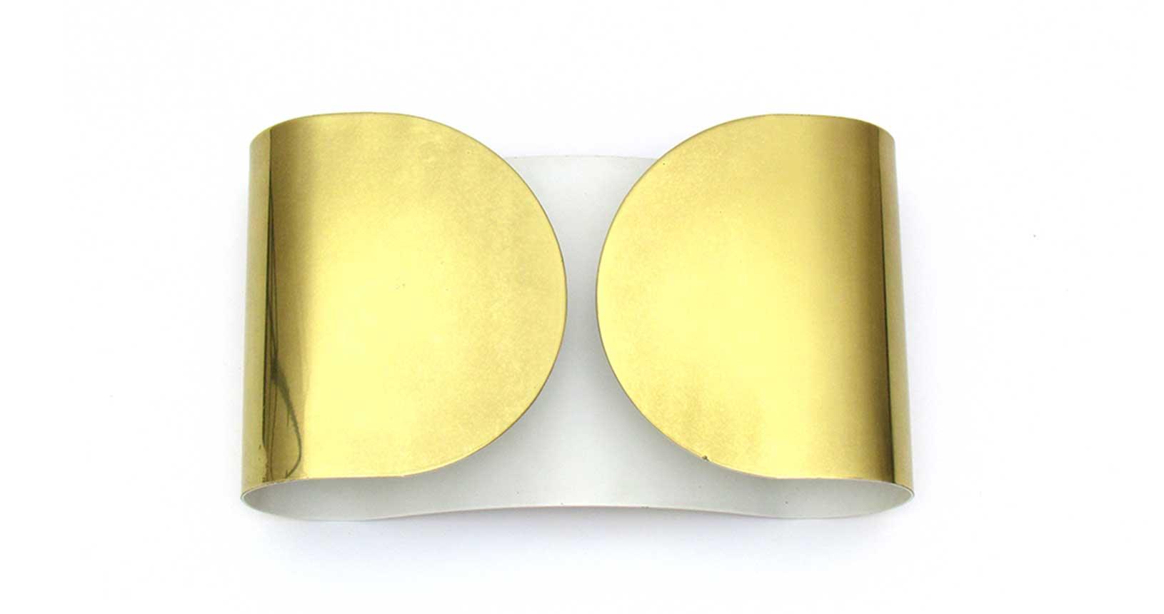 Foglio applique tobia scarpa floss gold brass wall lamp vintage design iconic design
