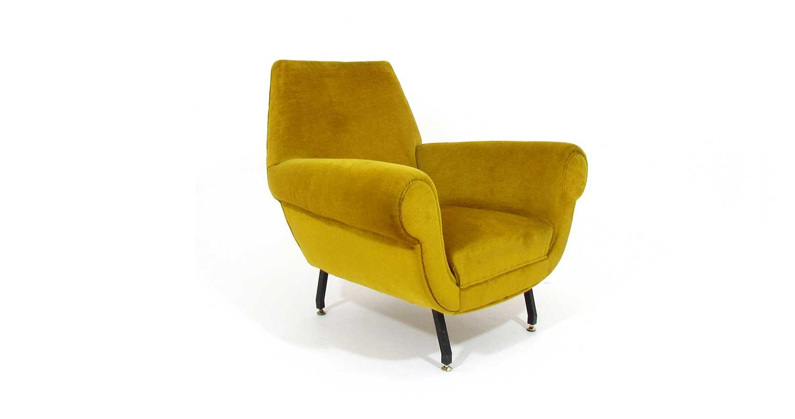 gigi radice armchair poltrona Minotti iron legs vintage iconic design furniture