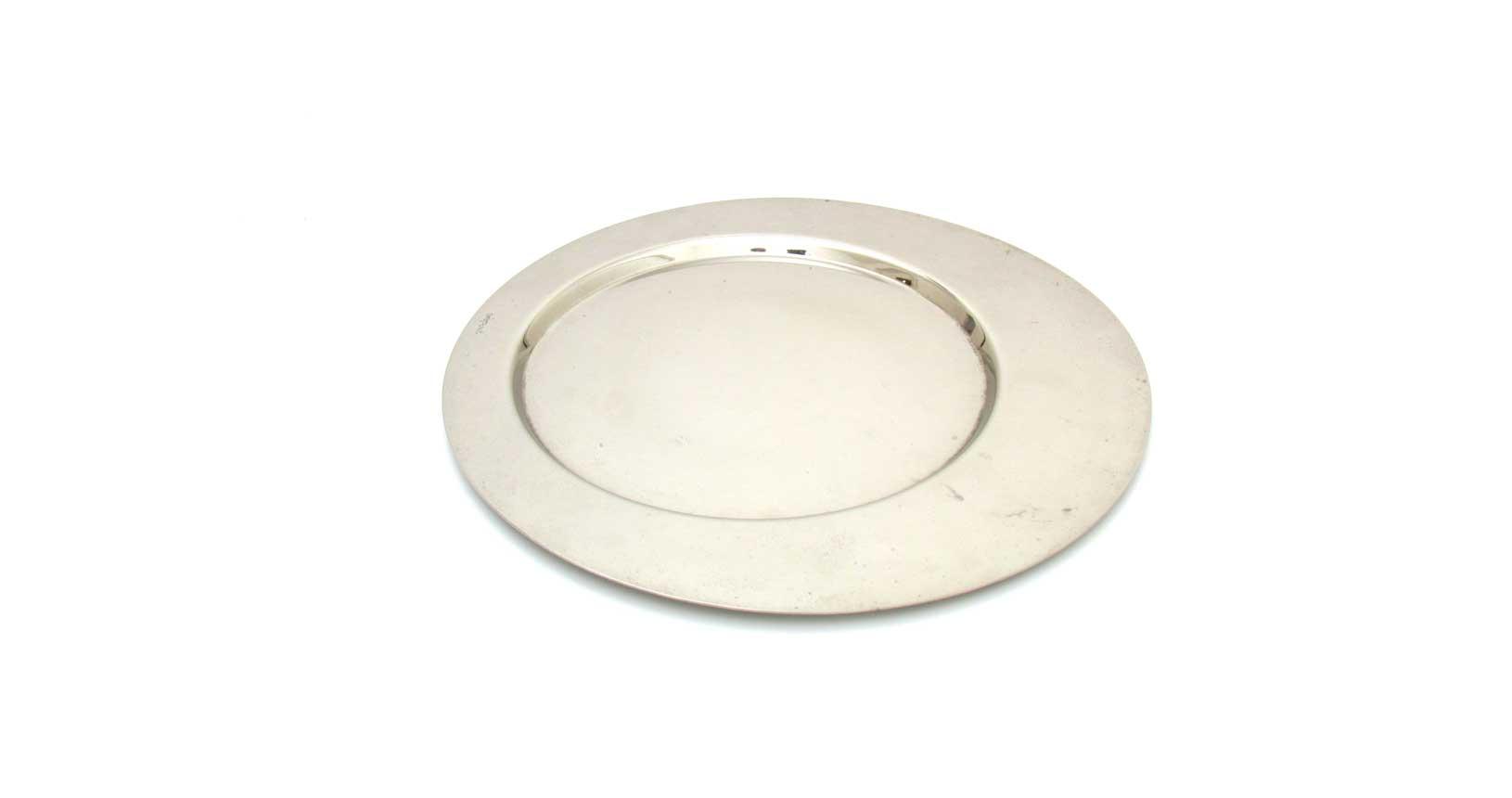 gio ponti cleto munari plate forme contemporanee carlo scarpa design vintage iconic design piatto vassoio silver cromo