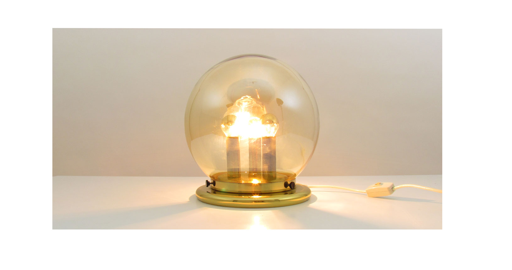 brass lamp ottone lampada vintage design furniture iconic design danese danish '50