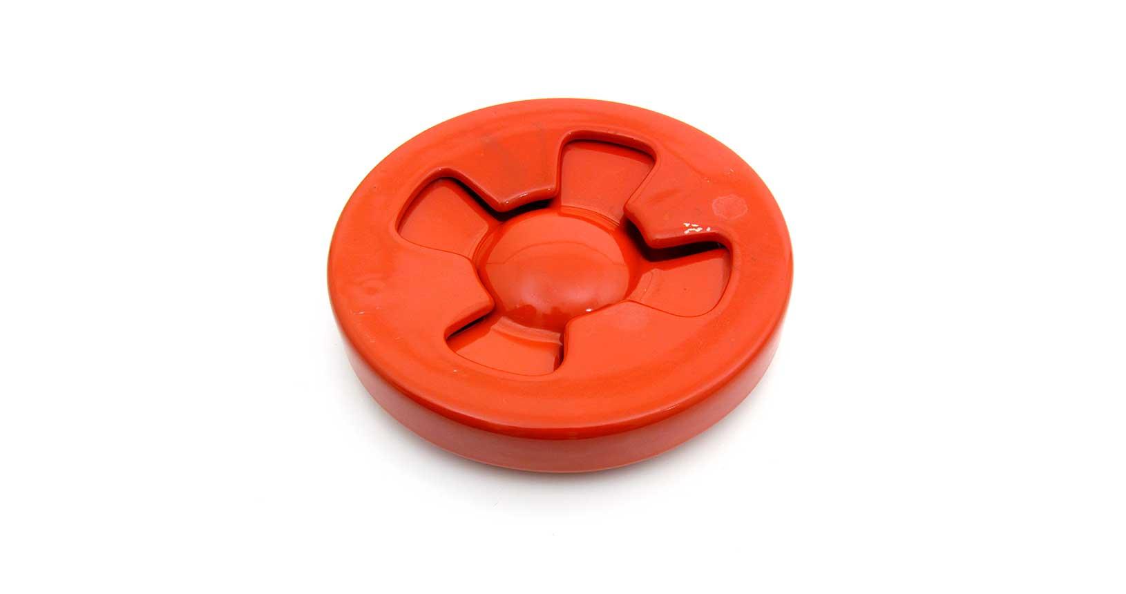 brambilla red rosso posacenere ashtray ceramica design vintage iconic design furniture mangiarotti