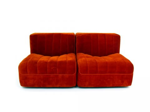 novemila sofa poltrona arflex tito agnoli tessuto velluto velvet