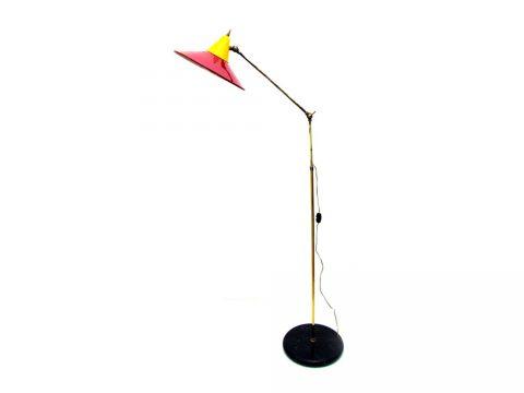 red floor lamp vintage design iconic design lighting