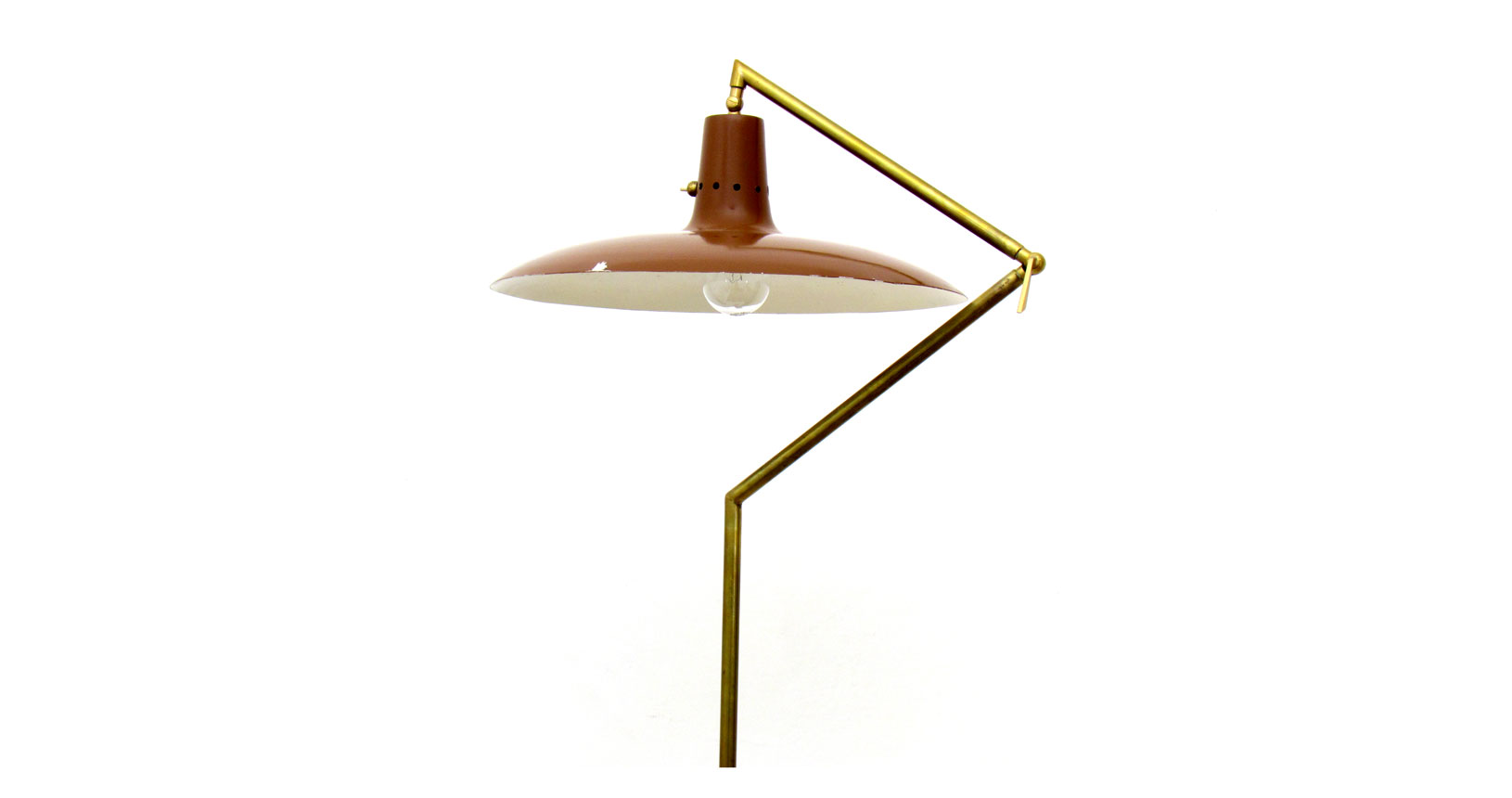 stilnovo lamp lampada ottone brass vintage furniture lighting iconic design