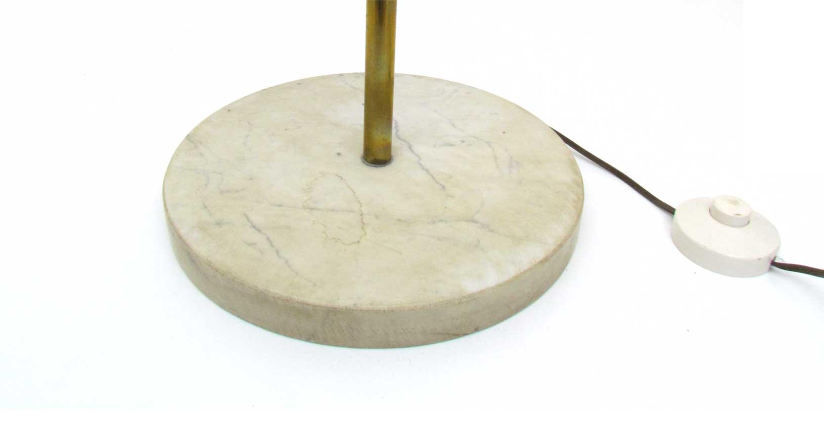 white floor lamp marble brass vintage design iconic design lighting
