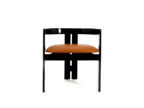 pigreco tobia scarpa gavina knoll chair sedia pelle legno