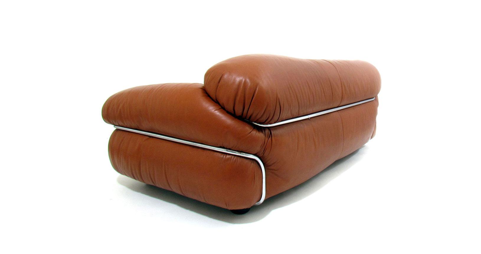 sesann 595 sofa leather cassina gianfranco frattini pelle