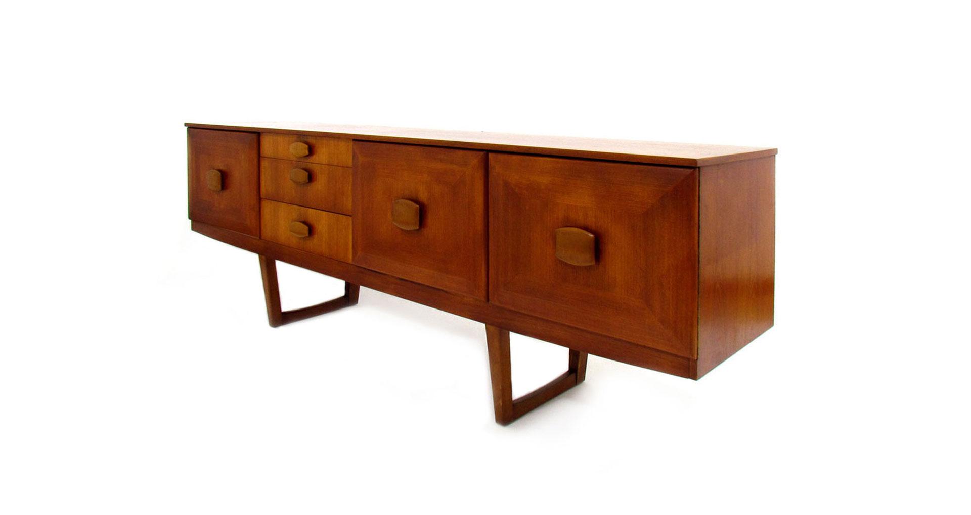 sideboard danish teak vintage scandinavian scandinavo danese credenza '60 '50
