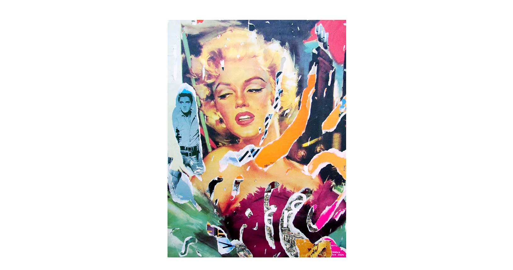art vintage iconic design furniture riccardo serafini mimmo rotella jacques villeglè arte contemporanea street art raymond hains asphalt jungle marilyn monroe
