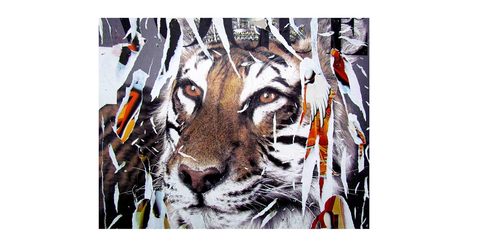 art vintage iconic design furniture riccardo serafini mimmo rotella jacques villeglè arte contemporanea street art raymond hains vogue tiger jewelry tigre lusso