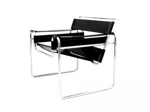 wassily chair sedia cuoio pelle cromato cassina vintage design knoll gavina furniture iconic design marcel breuer b3
